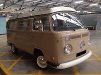 VW Camper Westfalia Volkswagen T2 Early Bay Window Westy 1972 Fully Restored Pop Top