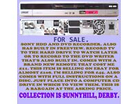 Dvd player, recorder, rewriter, with built in 80gig hard- drive, free-view and brand new remote