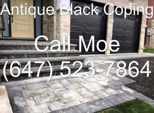 Antique Black Coping Antique Black Wall Coping Step Tread Risers