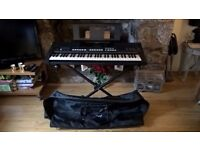 Yamaha PSR-E433 Electronic Keyboard with Stand and Case