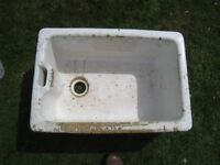 Belfast stone/enamel sink - suitable for garden ornament