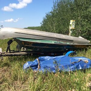 14 ft Jon boat with a 5 hp motor & good trailer
