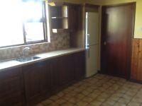 Kitchen units, dishwasher, oven and hob