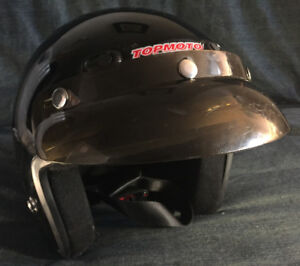 Onyx Dot open face helmet.