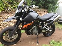 KTM 990 supermoto LC8, Full service history, low mileage, lots of extras