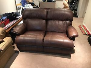 La z boy leather couch/recliner
