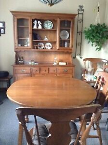 Solid rock Maple Hutch, Table and chairs