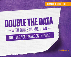 !! Crazy Sale !! Unlimited Talk and 2GB Data Only $40