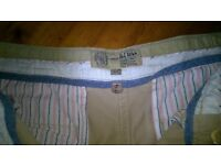 Fat Face women's cropped trousers size 10 very pale blush pink