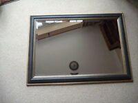 Dark Framed Bevelled Glass Mirror