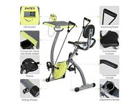 INTEY Magnetic Resistance Exercise Bike With Desktop (Home Gym Equipment)