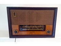 Vintage Retro Radio Cossor Melody Maker Model 523 Wooden Case approx. 1954