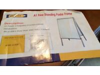 A1 free standing poster frame/ flip chart 595 x 840mm. Brand new in box.
