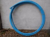 One length 17 metres approx. MDPE 25mm blue water pipe