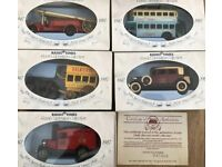 5 vintage collectable cars