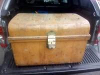 Metal storage trunk