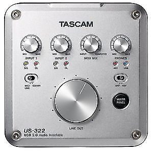 TASCAM US-322 2-In/2-Out USB Audio Interface