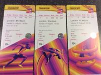 Sunday 6th August - 10:00am London 2017 IAAF (International Athletics - Family tickets)