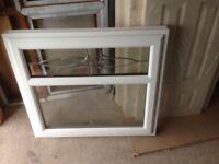 Linear white window upvc