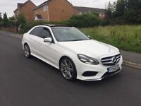 2014 MERCEDES BENZ E350 CDI AMG IN WHITE ABSOLUTE STUNNER HIGH SPEC