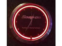 Snap On Tools Light Up Clock Brand New My Son Has 2