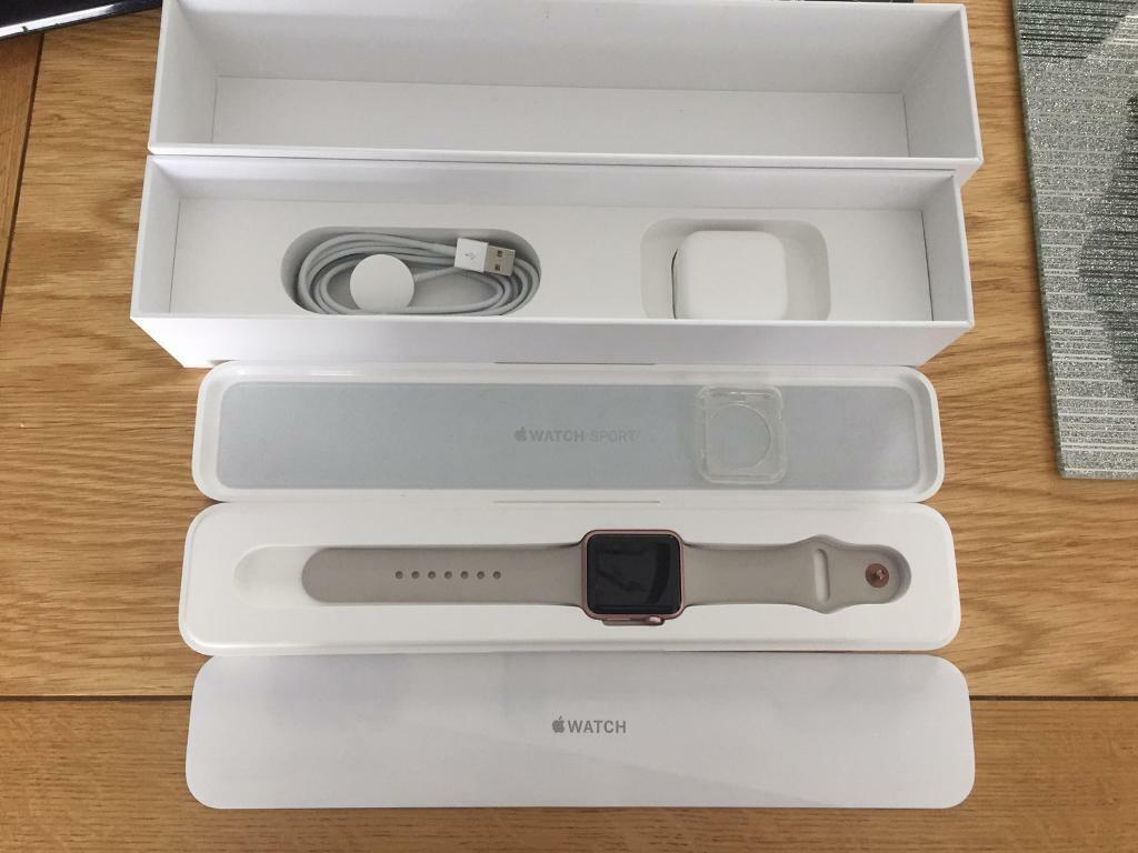 Apple Watch Sport 42mm, Rose Goldin Ipswich, SuffolkGumtree - Apple Watch Sport 42mm in Rose gold, good condition with the small/medium strap.All reset and unpaired from iTunes