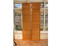 Louvred Doors x 2 Unpainted