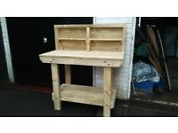 Wooden Workbench UK 6ft or 4ft Handmade | Very Strong and EASY ASSEMBLY