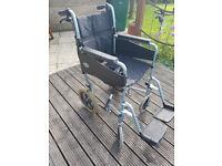 Lightweight folding aluminium wheelchair
