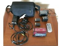 JVC Everio GZ-MG330 Camcorder Digital Video Camera HDD 30GB Hybrid, Batteries, Charger & Accessories