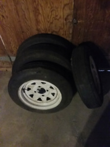 Trailer tires and 4 bolt rims