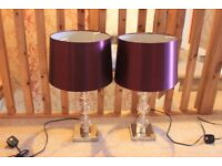 2 Matching Table Lamps (Plum)
