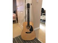 Squire Acoustic Guitar with strap - Excellent Condition!