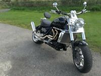 TRIUMPH ROCKET 111. 10 Reg. ONE OFF CUSTOM CHOPPER / LOWRIDER, 946 MILES FROM NEW, FORTUNE SPENT