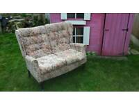 High back two seater sofa