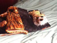 Child's tiger sleeping bag