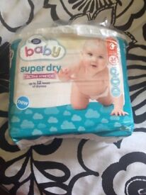 size 3 unopened boots nappies