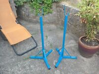 Free standing barbell squat squat stands.