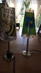 2 lampes pour chambre  d'enfants