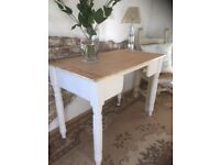 Victorian Pine Table Desk Rustic Gorgeous