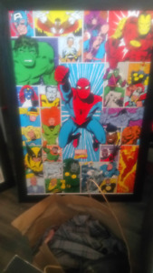 Cadres Marvel Retro Spiderman, Avengers, Fantastic Four