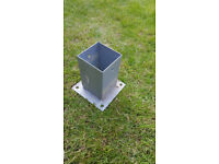 Fence post base support, brackets 90x90 mm