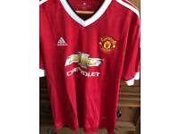 Man Utd home shirt 15/16 season XL £15