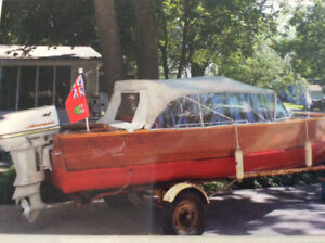 Peterborough Canoe Company Vintage Boat & Motor
