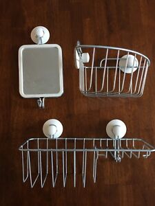 IKEA shower baskets and mirror