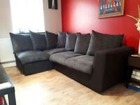 Corner sofa and pouffe for sale
