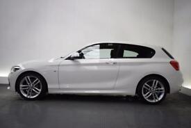 BMW 1 SERIES 2.0 125I M SPORT [SAT NAV] 3d 215 BHP (white) 2015