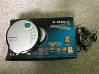 Panasonic Portable CD Player and earphones - has scratches on but in good working order.