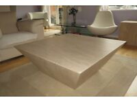 Marble Coffee Table - Cream