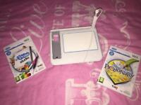 Wii U draw tablet and 2 games